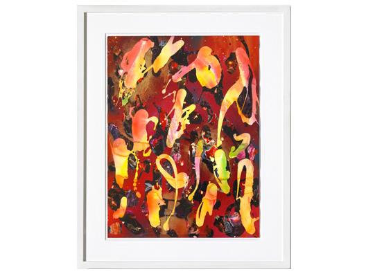 I ya ya 2012 Acryl, Sprühlack auf Papier 56 x 42 cm Limit: 1.500 €